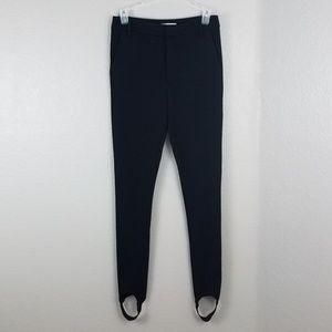 NWOT Frame denim black ponte pants with straps